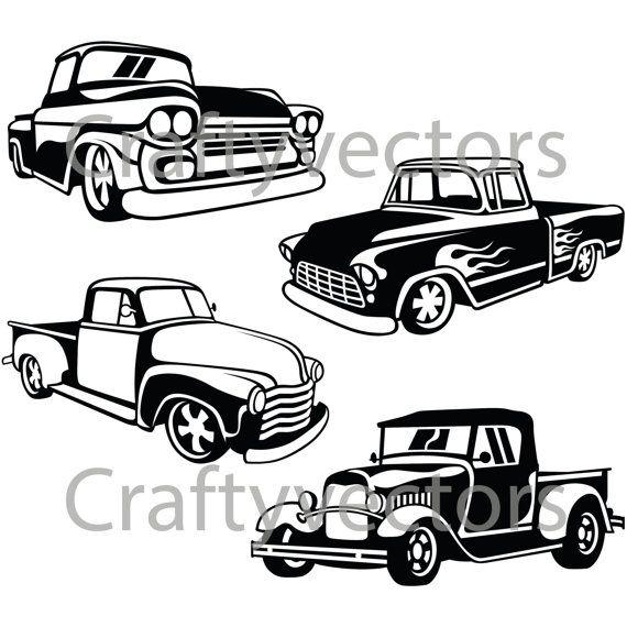 hot rod trucks svg vector files cricut 1961 Chrysler Newport