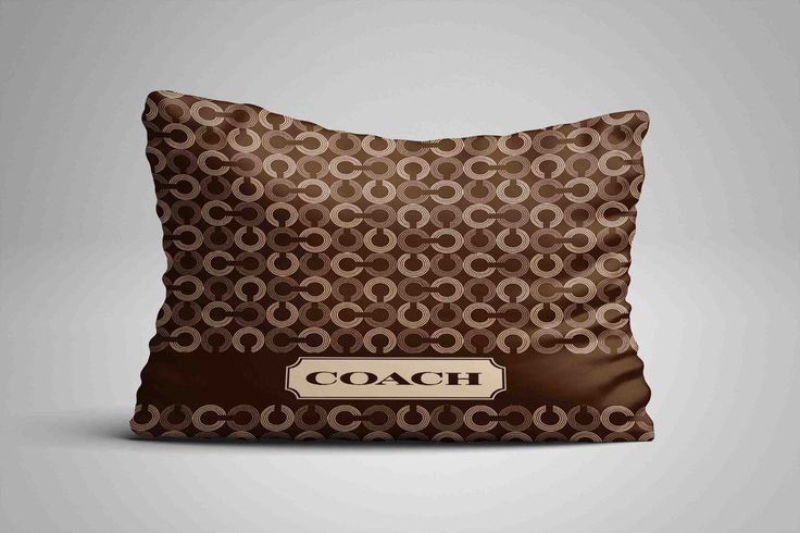 """New Design Coach Brown Logo Stripe Custom Pillow Case 16""""x24"""" Limited Edition #Unbranded #pillowcase #pillowcover #cushioncase #cushioncover #best #new #trending #rare #hot #cheap #bestselling #bestquality #home #decor #bed #bedding #polyester #fashion #style #elegant #awesome #luxury  #coach #brown"""