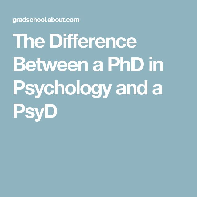The Difference Between a PhD in Psychology and a PsyD