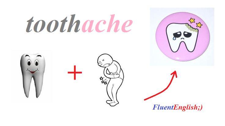 tooth + ache = toothache! (зубная боль)