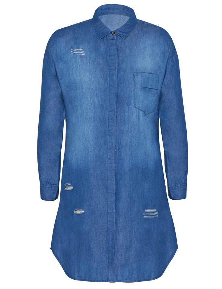 DENIM SHIRT DRESS for R299.00