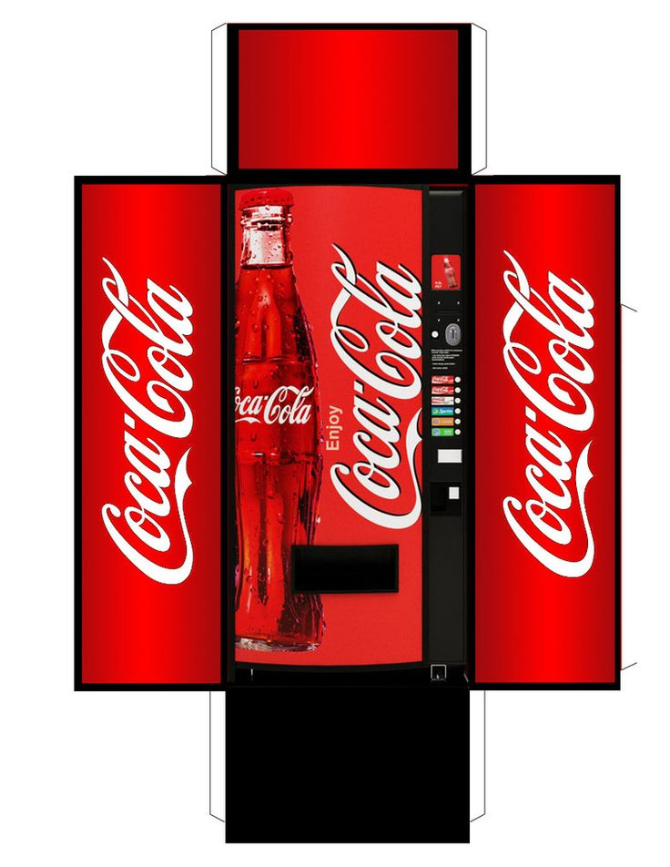 Coca Cola vending machine.  Also see http://www.creativecloseup.com/download-retro-vintage-coke-vending-machine-papercraft-model https://picasaweb.google.com/101899687610771317420/PrintableDollhouseFood#5434081202392125346 https://picasaweb.google.com/101899687610771317420/PrintableDollhouseFood#5434081151015585442.  (There are Japanese versions at http://boingboing.net/2008/03/28/vendingmachine-obses.html and http://www.amazon.com/Miniatuart-Diorama-Option-Kit-Vending/dp/B0064YQS52).