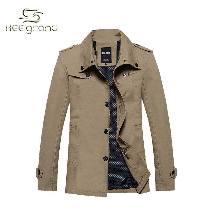 Printemps et automne 2015 nouveau Style Hot vente hommes mode Casual coton  veste vent manteau confortable