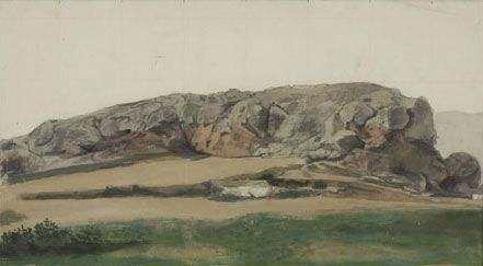 Yiannis Tsarouchis - The Areopagos 1964 Gouache and pencil on paper, 25 x 45.5 cm Inv. No. 73