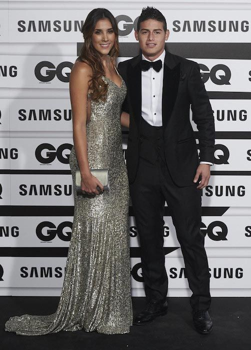 James Rodriguez and his wife Daniela at the GQ Men of The Year 2015 Awards on November 5, 2015 in Madrid, Spain...