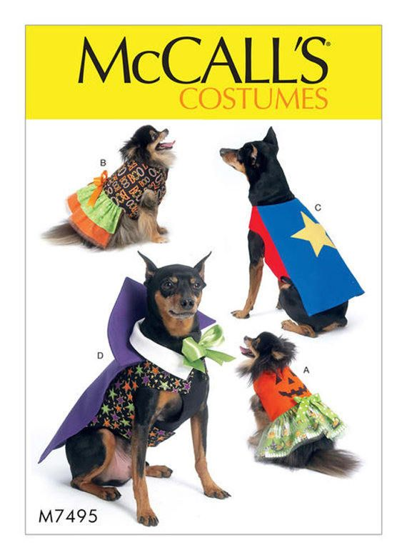 Cheapest Shipping Dog Costume Pattern Mccall S 7495 One Size S