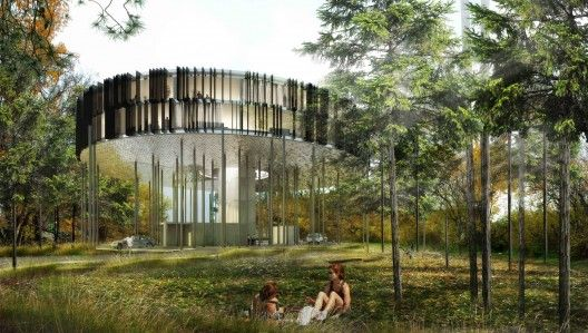 """Winnipeg's """"Flying Saucer"""" condominium project 62M, designed by Winnipeg-based studio 5468796 Architecture, will occupy the corner of MacDonald Avenue and Waterfront Drive, close to the Exchange District."""