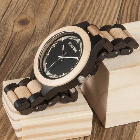 Men's Two Tone Rosewood/Pinewood Wooden Watches in Wooden Gift Box Wood watches for men style internet unique products shops fashion for him  band black awesome accessories gift ideas beautiful guys dads outfit boxes pictures man gifts casual For sale buy online Shopping Websites montre en bois homme garçon papa cadeaux idées originales mode Achat Acheter en ligne Site de vente france USA Canada Australia