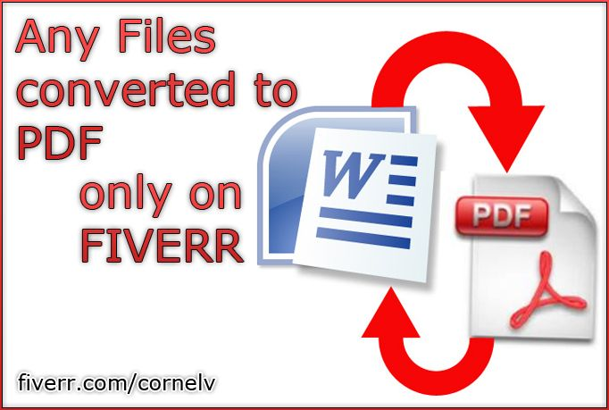 cornelv: convert your file to PDF for $5, on fiverr.com