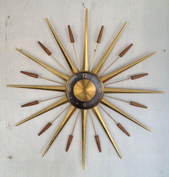 1960's Starburst Clock Mid Century modern Retro by Dead50sModern, $125.00
