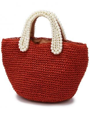 pearl handle crochet bag