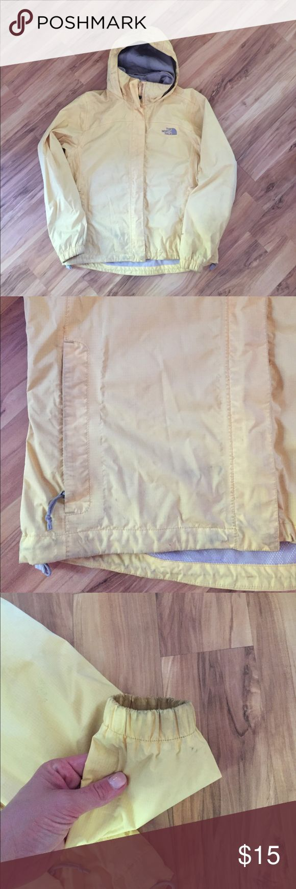 North face windbreaker Some wear on it as shown in the pictures. The North Face Jackets & Coats