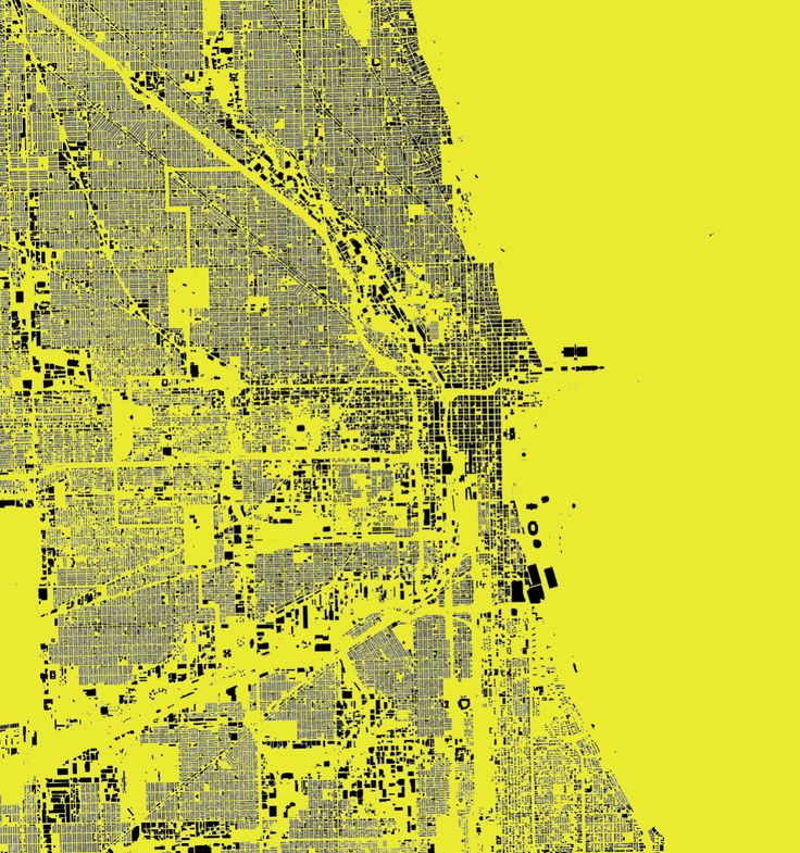 Chicago is one of the most edited cities in OSM. Made with Stamen Map Stack.