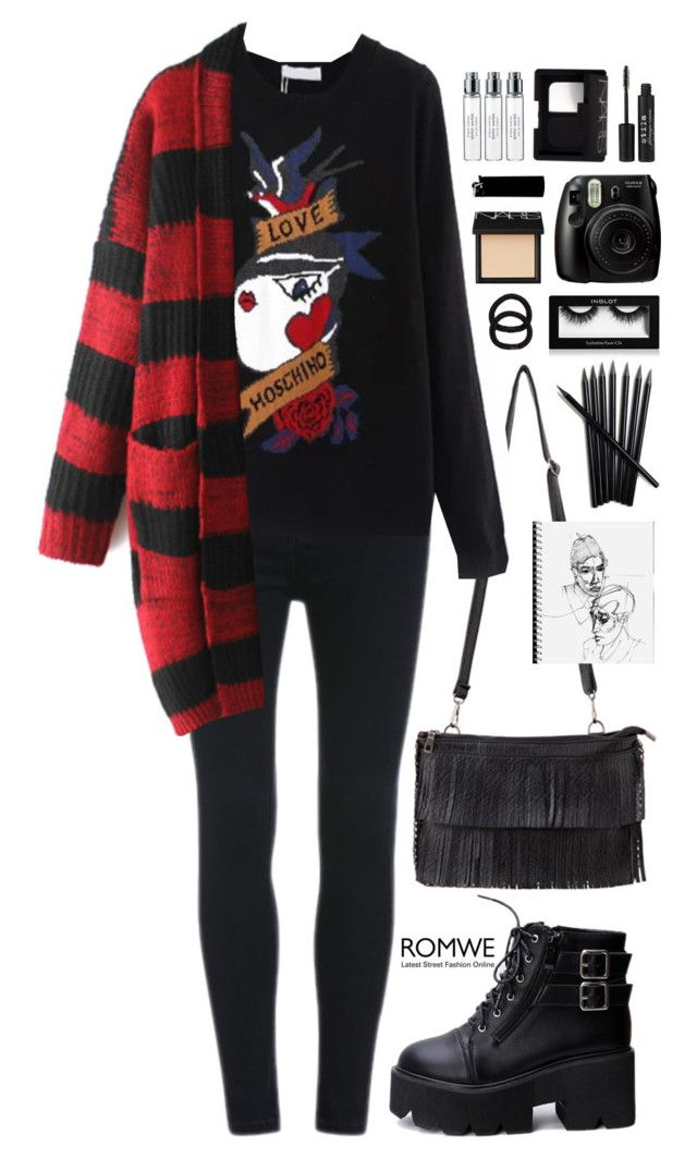 """Romwe 9"" by scarlett-morwenna ❤ liked on Polyvore featuring John Lewis, NARS Cosmetics, Byredo and Stila"