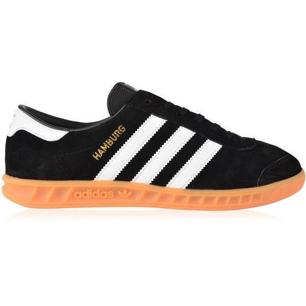 ADIDAS ORIGINALS Hamburg Trainers (5,105 PHP) ❤ liked on Polyvore featuring shoes, sneakers, lace up sneakers, round toe shoes, adidas originals sneakers, round toe sneakers and adidas originals shoes