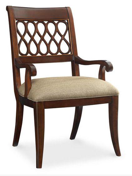 Полукресло из коллекции St. James Place Arm Chair выполнено в отделке Sable, с мягким текстильным сидением и резной спинкой в обрамлении с затейливой резьбой. Доступна модель без подлокотников. Высота сидения составляет 48 см., высота подлокотника 62 см. ...             Метки: Кухонные стулья.              Материал: Ткань, Дерево.              Бренд: Schnadig.              Стили: Классика и неоклассика.              Цвета: Коричневый.