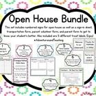 This set includes a welcome sign and numbered signs to use for meet the teacher night or open house. It also includes a parent volunteer form, a tr...