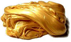 Intelingentní plastelína: Oslnivá zlatá
