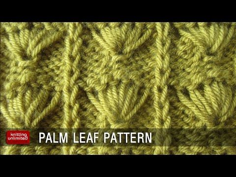 Palm Leaf Knitting pattern - YouTube