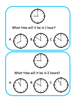 Middenbouw: Klok: Here's a set of 28 question cards on elapsed time. Available from ProTeacher, you must login to download. (Membership is free.)