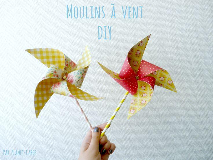 Créer un moulin à vent DIY grâce à notre tuto facile et simple à réaliser. Le moulin à vent égayera vos fêtes et anniversaires !