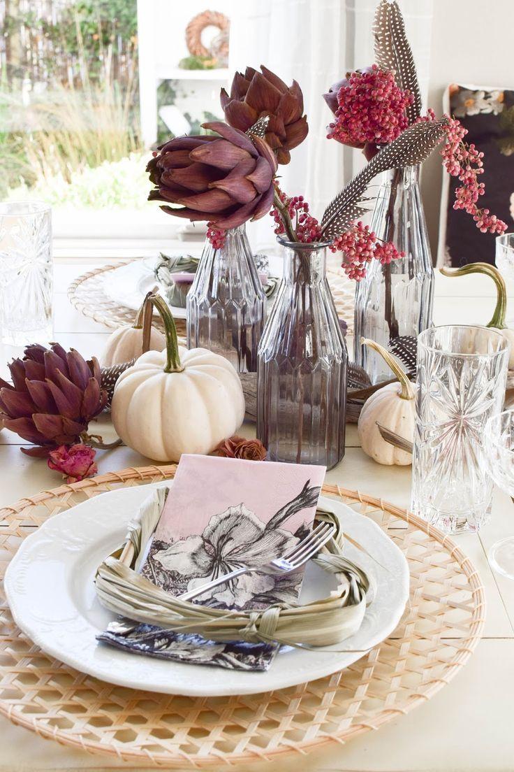 Mein Esszimmer Und Tischdeko Im Herbst Blumen Wohnklamotte