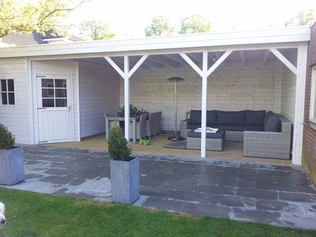 Jan de boer tuinhuizen fotoboek tuinhuis met veranda tuin terras pinterest tuinhuizen - Overdekte patio pergola ...