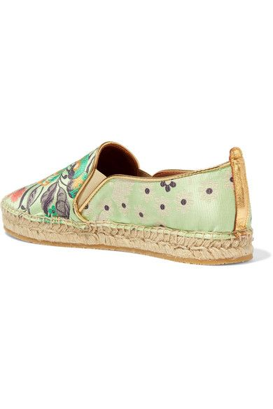 Sole measures approximately 15mm/ 0.5 inches Sage-green satin Slip on Made in Italy