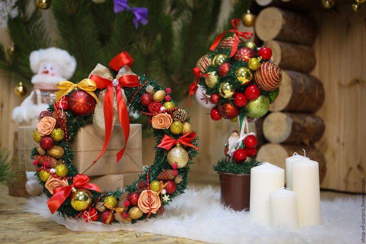 Купить Новогодние комплекты - новогодний подарок, ручная работа, подарки ручной работы, подарок на новый год