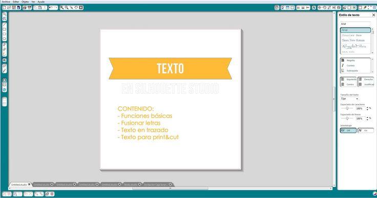 Tutorial de Texto en Silhouette Studio (Español)