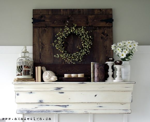 Pottery Barn Decorative Ledge Knockoff - a little LESS distressing for my taste but i love the mantle itself
