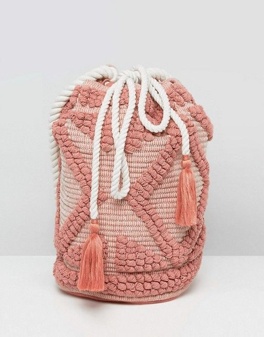 South Beach Drawstring Shoulder Bag In Lullaby Pink