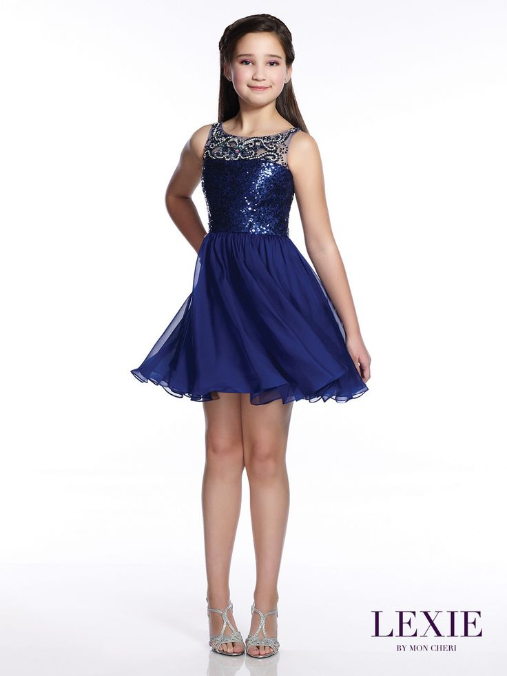Tween Short Sequin Prom Dress | Lexie By Mon Cheri Teen ...