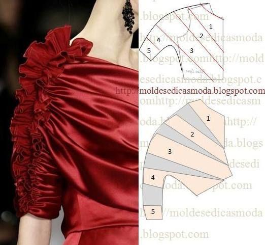 la nouvelle mode du pliage dans la couture,... Incroyablement difficile !