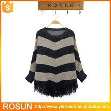 OEM women fashion strip knit pattern poncho sweater  Best Seller follow this link http://shopingayo.space