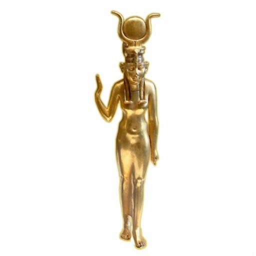 Gold Isis - Ornament Sculpture #yule #soltice #horus #osiris #isis #gold #pagan #wicca #egypt #christmas