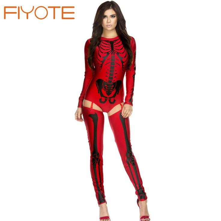 $13.08 Novelty Sexy Costumes For Women Fantasias Bad To The Bone Skeleton Costume #Sexy #Costumes #Fantasias  #Bone #Skeleton #Halloween