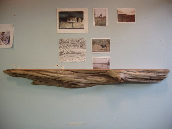 Driftwood Pacific Red Cedar Mantle/Shelf by driftedge on Etsy