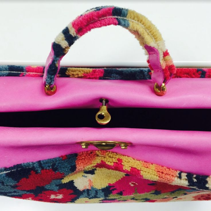 Quirky B - Liberty Fabrics Collection at Decorex International 2016. Custom made fashion bag made out of the Flowers of Thorpe Summer Garden!
