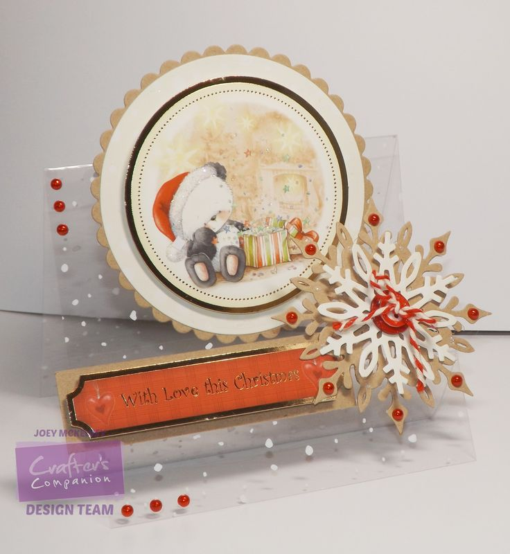 Crafter's Companion; Party Paws Christmas; CD-ROM Papercraft Kit, acetate Collalls, die'sire snowflake die, pearls, twine, button, diecuts @crafterscomp
