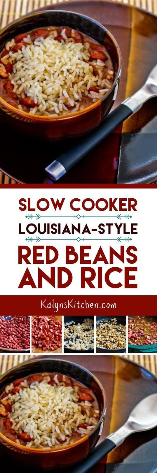 Slow Cooker  Louisiana-Style Red Beans and Rice found on KalynsKitchen.com