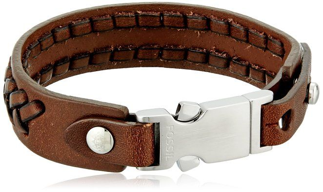 Fossil Braided Leather Bracelet
