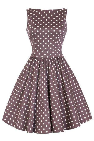 9d3c2ca5656b Béžové šaty s puntíky Lady V London Tea