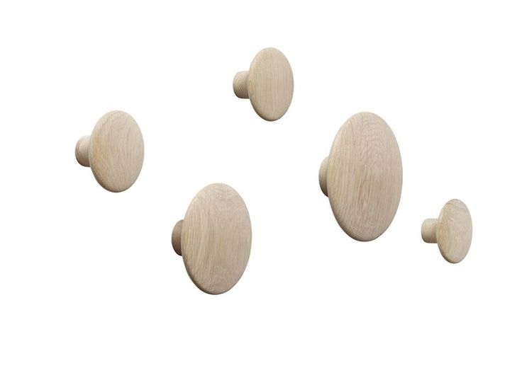 Wall-mounted coat rack THE DOTS by MUUTO design Tveit