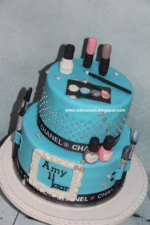 lekker zoet: make up taart voor Amy 11 jaar
