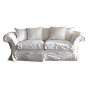 "Check out this item at One Kings Lane! Grace 97"" Sofa, White"