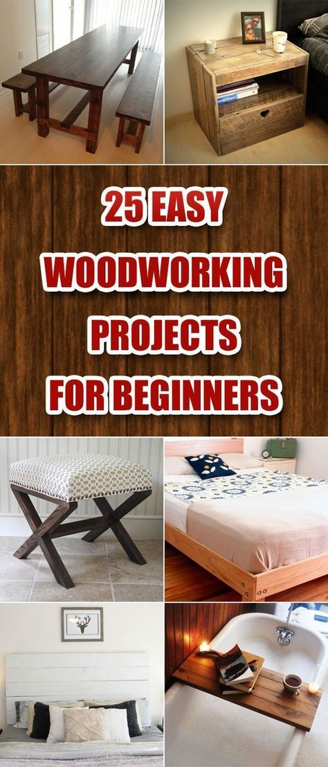 easy wood projects for beginners Discover a few simple woodworking projects for beginners that you can try out yourself to test your skills and gain more confidence with your wood projects.