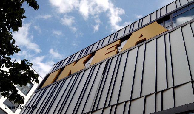 Hamburg Altona Ikea mitten in der Stadt Parkplatz mit super Blick über die Stadt!