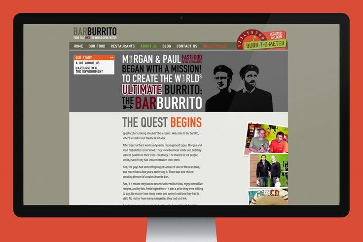 Barburrito website on desktop.