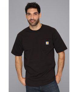 Carhartt Workwear Pocket S/S Tee Tall (Black) Men's T Shirt